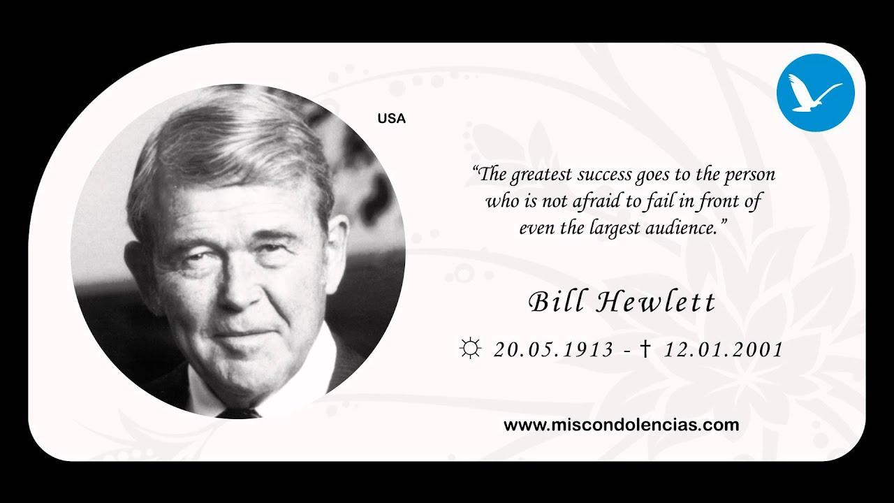 In Memory of Bill Hewlett - YouTube