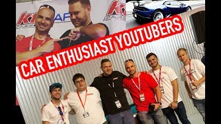 CAR ENTHUSIAST YOUTUBERS AT APX EVENT