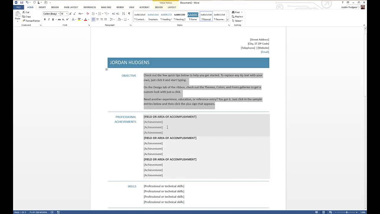 How To Create Resume On Word How To Create A Resume In Microsoft Word