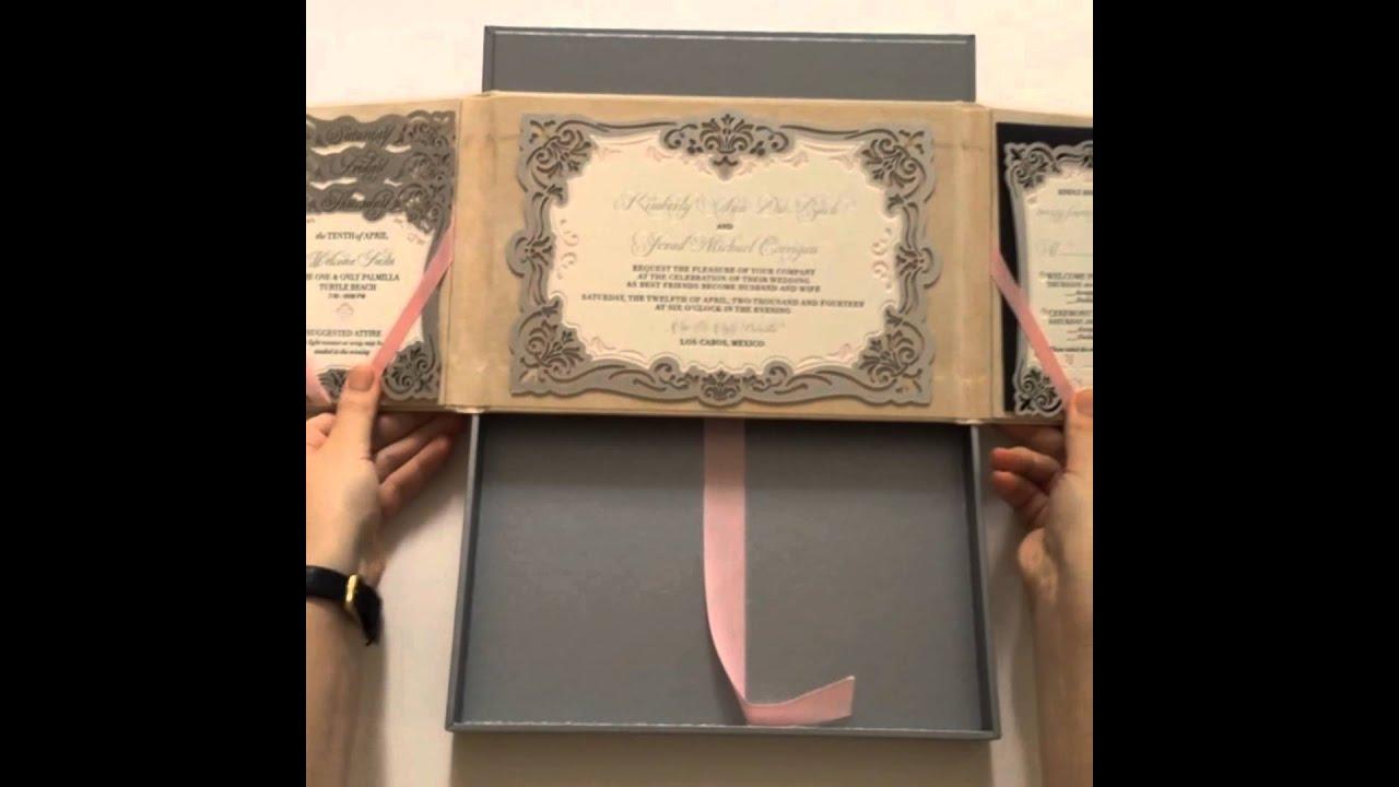 Luxury Wedding Invitations By Ceci New York: Luxury Laser-cut Boxed Wedding Invitation By Ceci New York