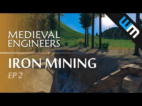 Medieval Engineers, Multiplayer Survival Gameplay - Iron Mining, Ep 2