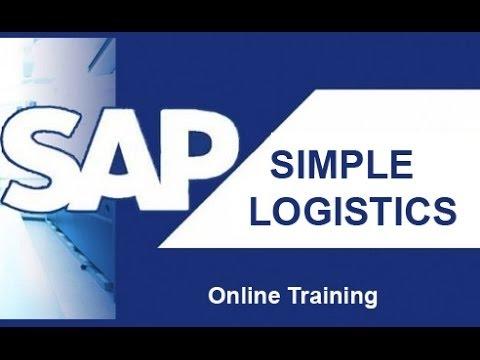 SAP S/4 Hana Simple Logistics Training Video | Simple Logistics ...