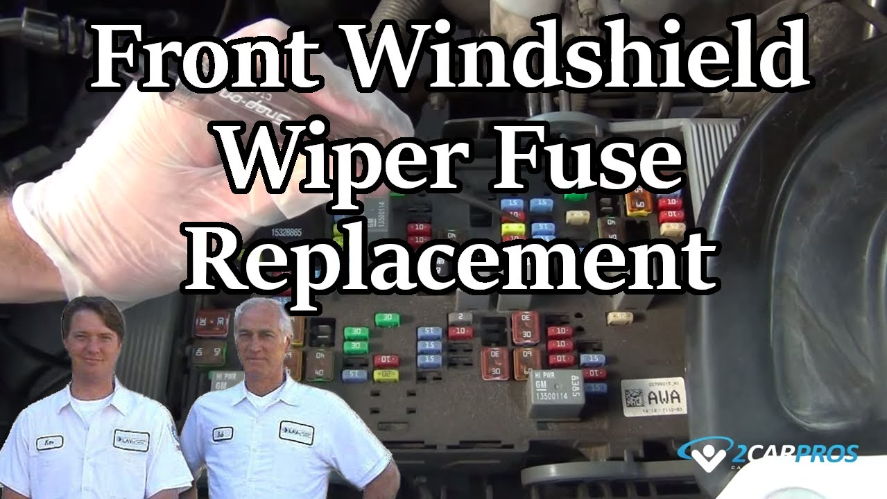 Front Windshield Wiper Fuse Replacement  YouTube