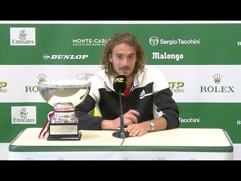 Stefanos Tsitsipas press conference after Monte Carlo win
