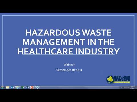 Medical Hazardous Waste Management Training