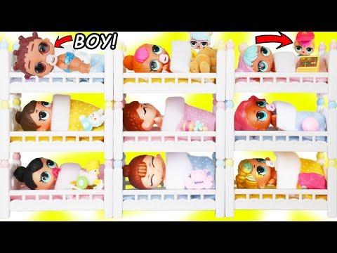 LOL Surprise Doll Fresh Gets New Bunk Beds Lil Brother Punk Boi Boy + Secrets Changing Toy Surprises