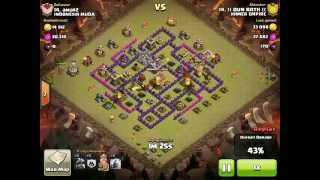 clash of clans: attack use only dragon in war clan