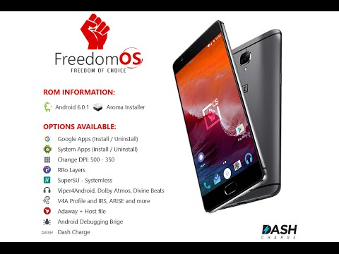 FreedomOS for OnePlus 3 - Most Popular Custom ROM