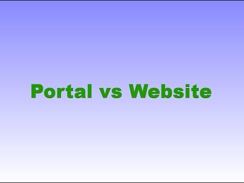 WebSphere Portal Tutorials   Difference between Portal Vs Website