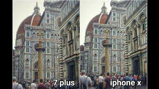 Apple Iphone 10 Vs Apple iphone 7 plus Camera test Iphone 7 plus vs Iphone X camera test