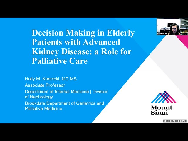 Decision Making in Elderly Patients with Advanced Kidney Disease: A Role for Palliative Care