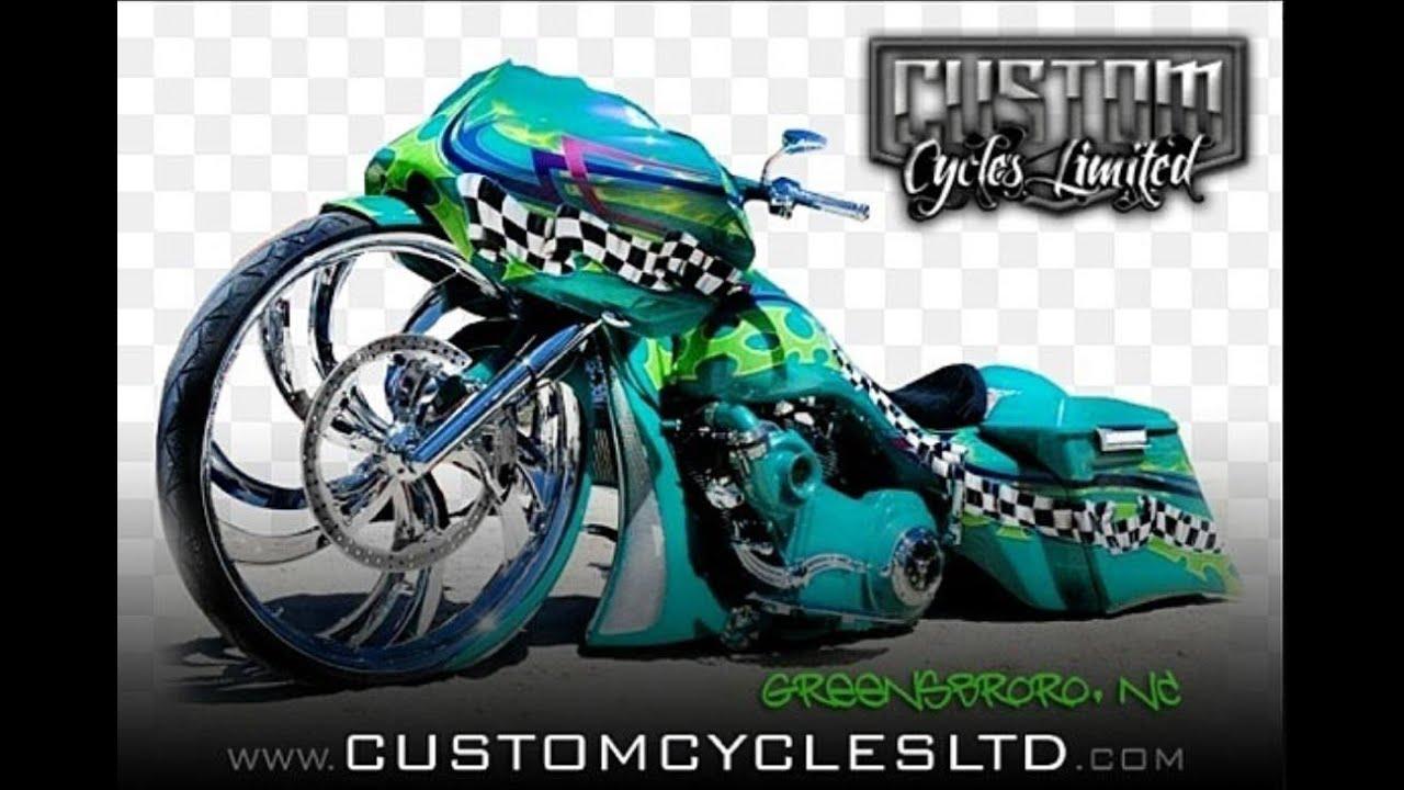 Custom Cycles LTD World's First 32 inch big wheel Road Glide Bagger Harley  Davidson