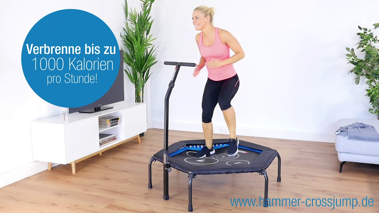 jumping fitness f r zu hause hammer fitness trampolin cross jump youtube. Black Bedroom Furniture Sets. Home Design Ideas
