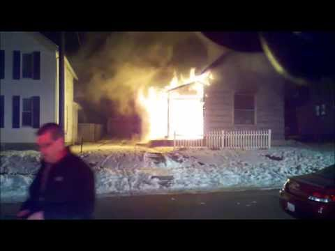Newark, Ohio Fire Department House Fire 263 Boyleston Working Fire Incident Command View with audio