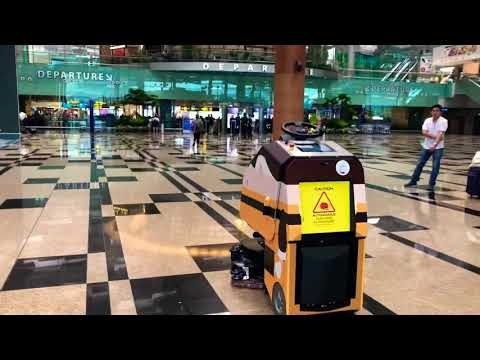 Singapore Autonomous Cleaning At Changi Airport