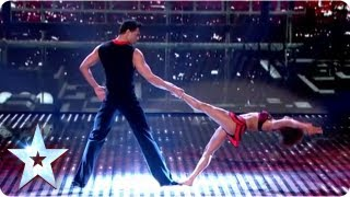 Martin and Marielle's highflying dance routine | Semi-Final 2 | Britain's Got Talent 2013