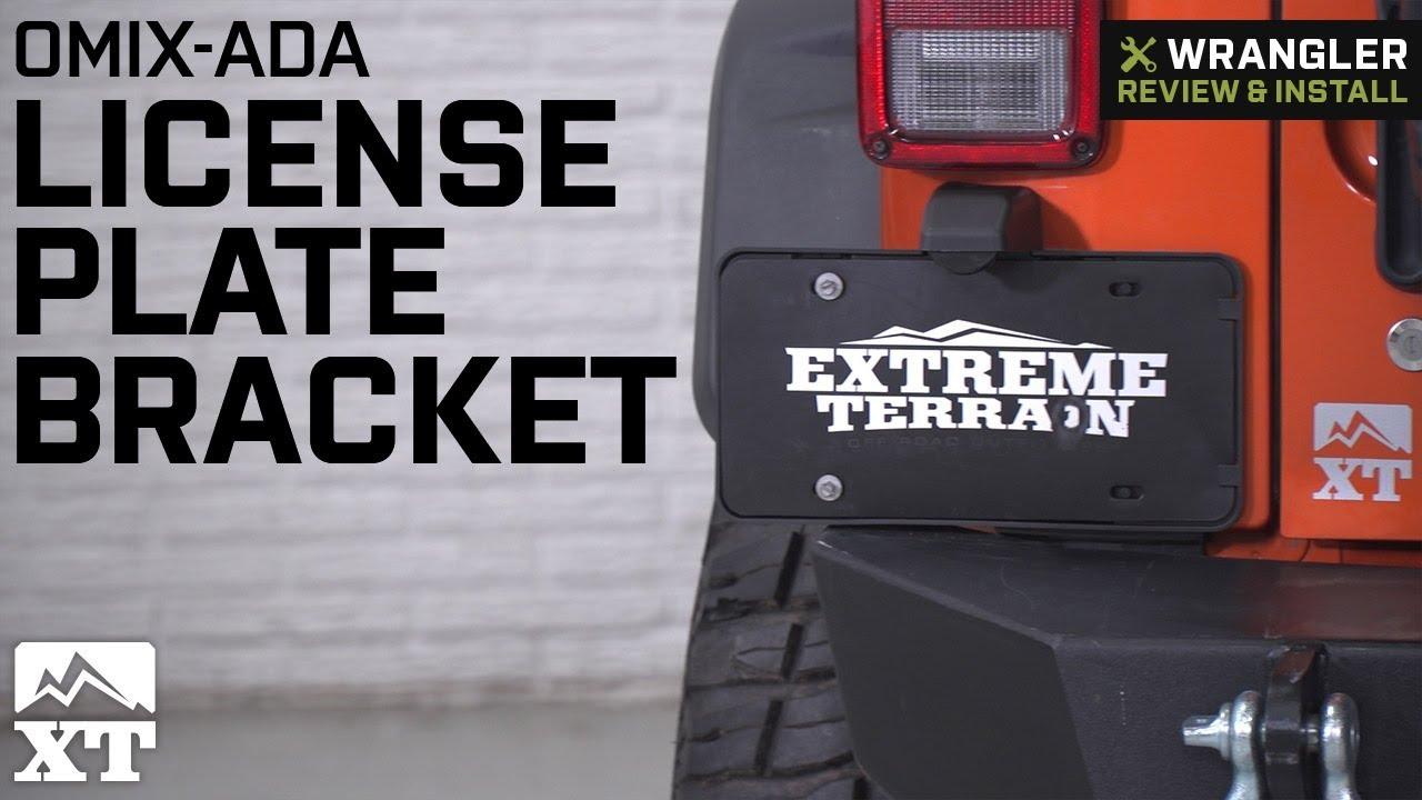 Jeep Wrangler Omix ADA License Plate Bracket (2007 2018 JK) Review U0026 Install