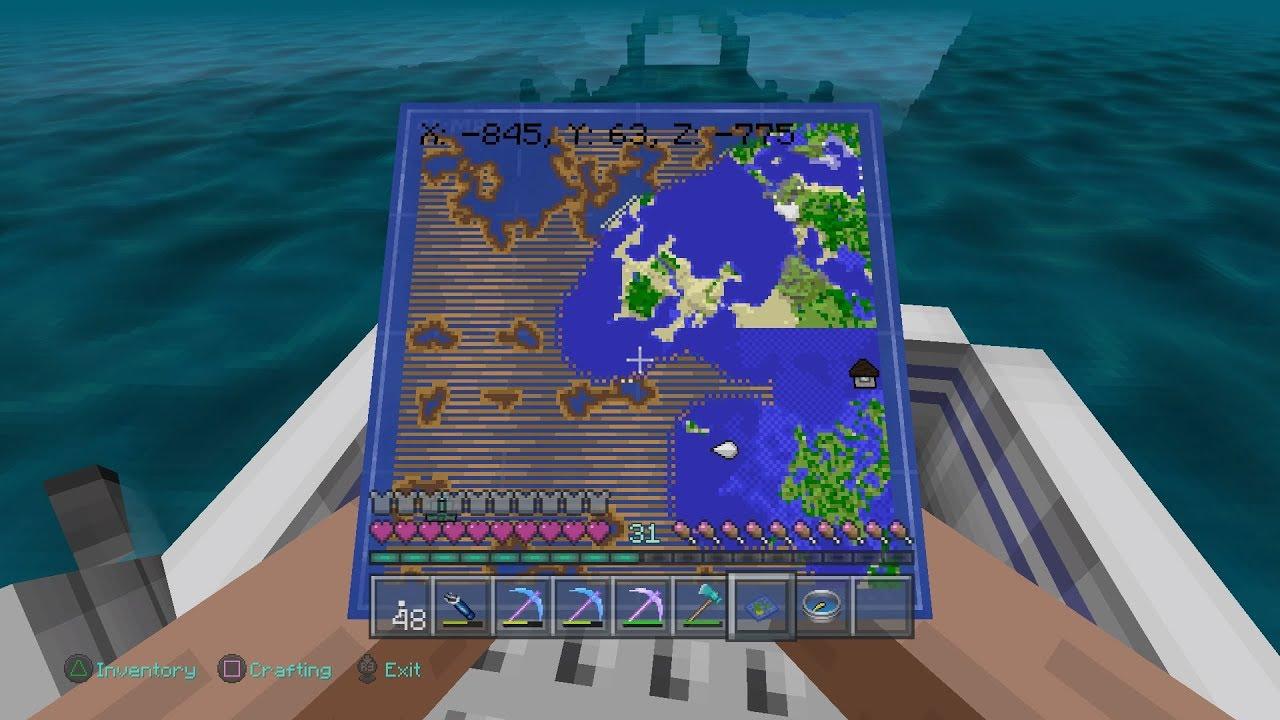 treasure maps minecraft ps4
