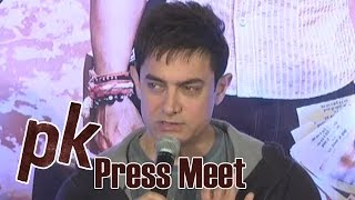 Aamir Khan About His Nude Poster In PK Movie - PK Team Press Meet