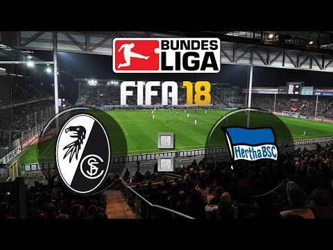 FIFA 18 Bundesliga Sport-Club Freiburg : Hertha BSC | Gameplay Deutsch Livestream
