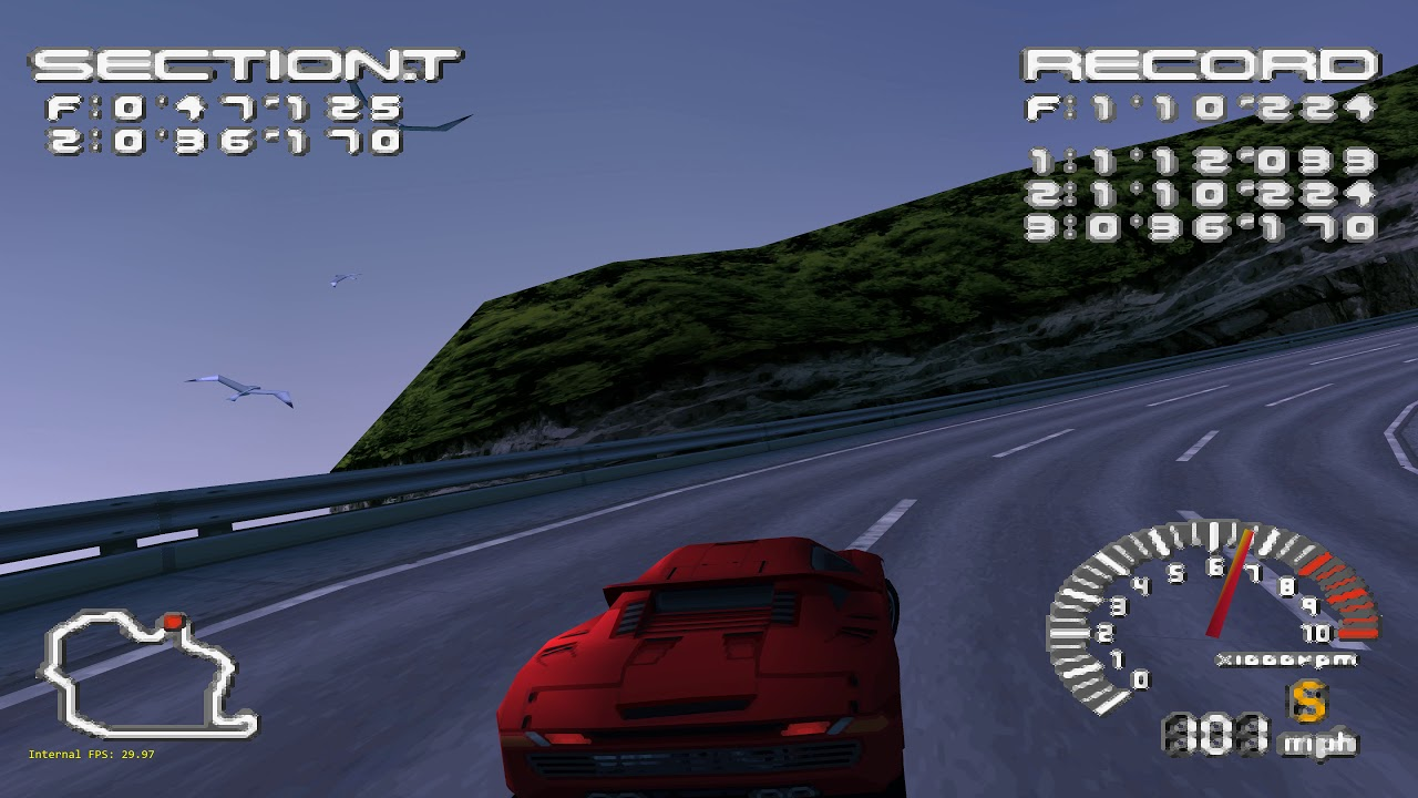 Beetle PSX HW - RetroArch - Ridge Racer Type 4 - All settings maxed out