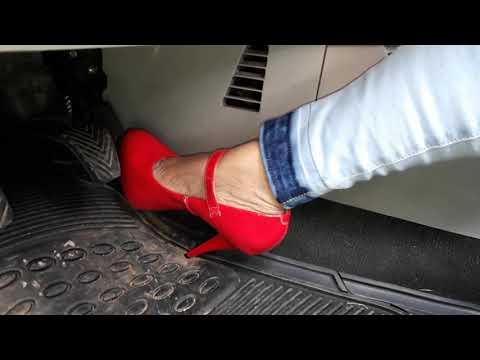 Pedal Pumping 26 High Heels Revving Red Pump