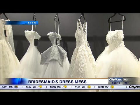 Frantic five days as airline loses bridemaid's dress