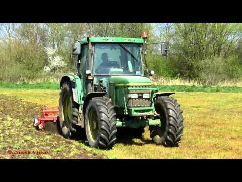 John Deere 6210 Rotavating and New Holland T8 330.  That's BIG !