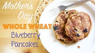 The Babbling Brooke Cooks | Whole Wheat Blueberry Pancakes