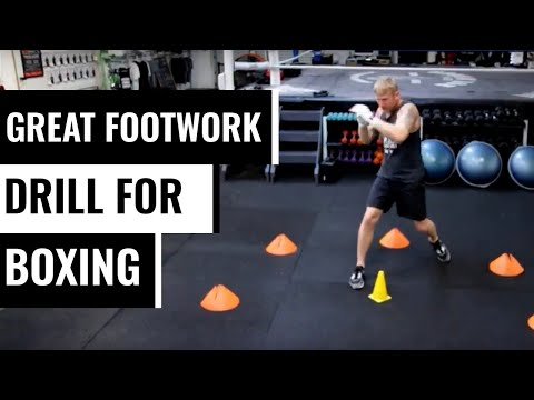 A great foot work drill for boxing  Subscribe for more