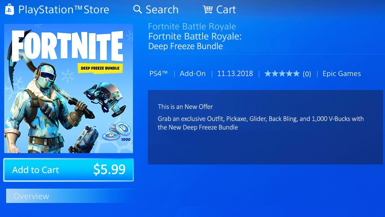 deep freeze bundle fortnite