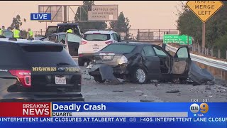 1 Person Killed, Several Injured In Chain Reaction Crash On 210 Freeway In Duarte
