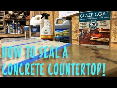 How to Seal a Concrete Counter Top