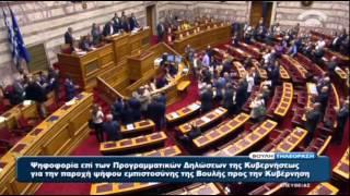 155 βουλευτές έδωσαν ψήφο εμπιστοσύνης στην κυβέρνηση