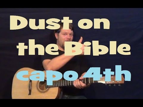 Dust On The Bible (Hank Williams) Easy Guitar Lesson How to Play Tutorial Capo 4th