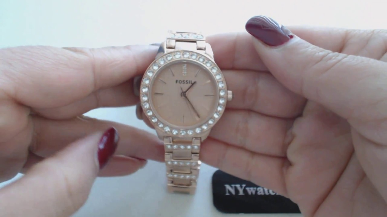 Riley Multifunction Rosetone Stainless Steel Watch T Fossil Es3590 Stella Rose Tone Pinterest Watches Fossils And Gold
