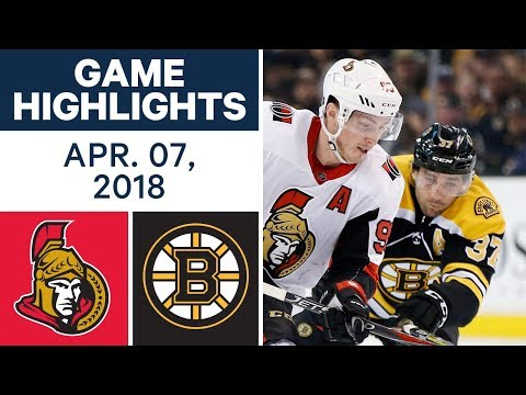 NHL Game Highlights | Senators vs. Bruins - Apr. 07, 2018