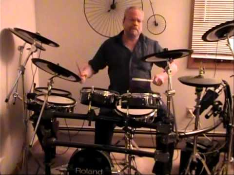 "Somebody to Love ""Jefferson Airplane"" ""Drum Cover"" ""Ed Molloy"" ""Roland TDW-20"""