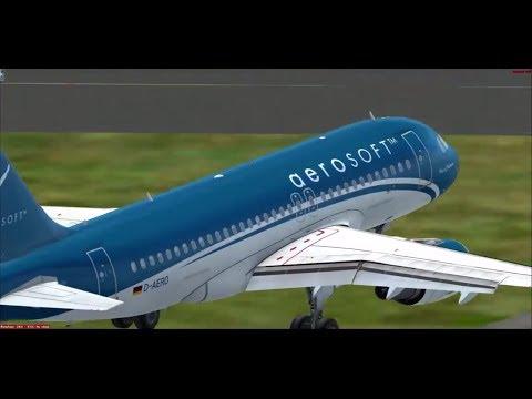 Fsx- Airbus A319 : Takeoff Arlanda-Stockholm Airport - Landing Göteborg Landvetter Airport