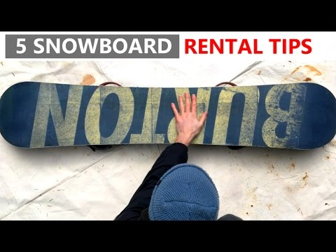 Make 5 Tips for Renting a Snowboard Images
