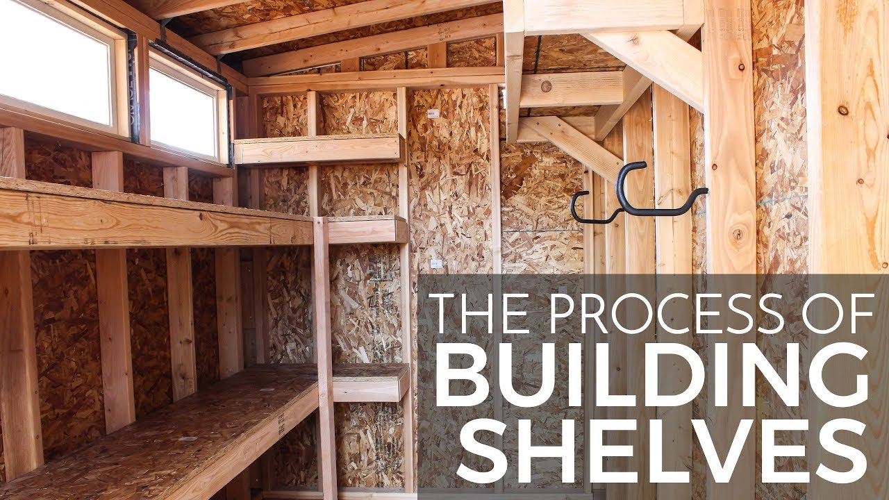 Process Of Building Shed Shelves Youtube