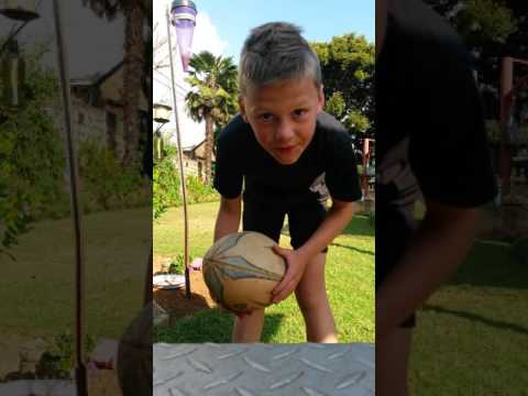 Rugby Ball and soccer ball