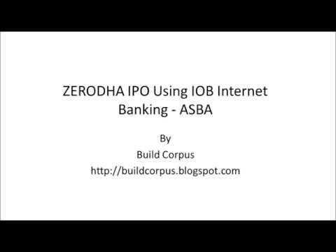 ZERODHA IPO using Indian Overseas Bank Internet Banking - ASBA