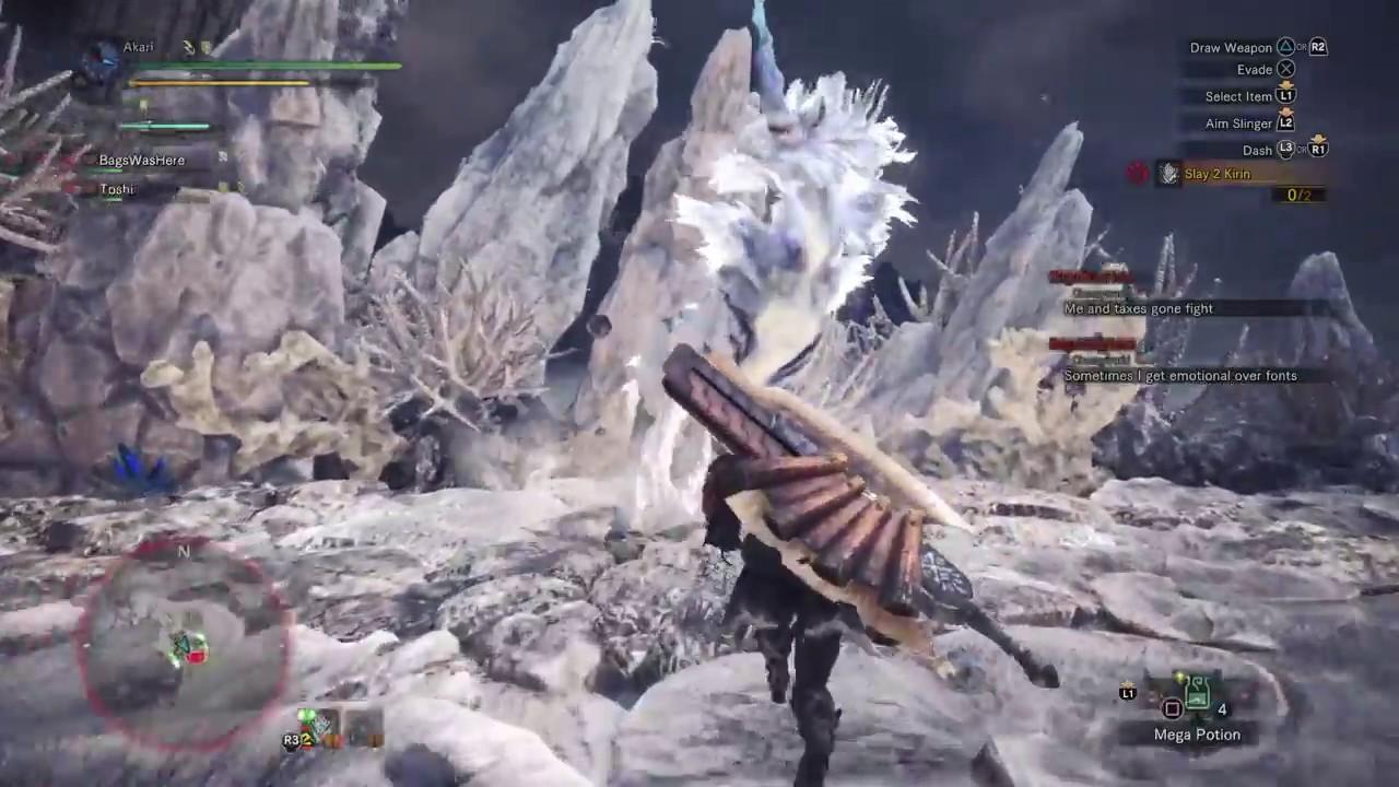 how to kill a kirin monster hunter worlds