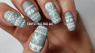 Christmas Nail Art Tutorial | Freehand