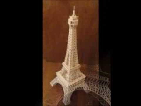 eiffel tower made from matchsticks youtube. Black Bedroom Furniture Sets. Home Design Ideas