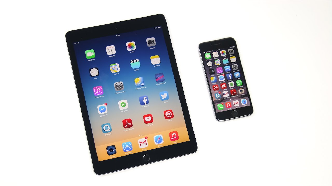 Apple iPad Air 2 vs. iPhone 6: Benchmark