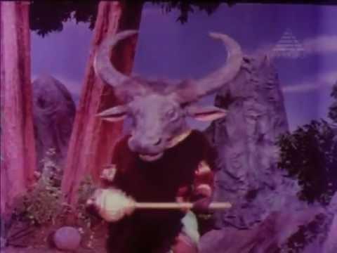 Durga kills Mahishasur