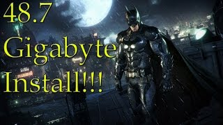 Batman: Arkham Knight Requires An Enormous 48.7 GB Of Hard Drive Space On The PS4