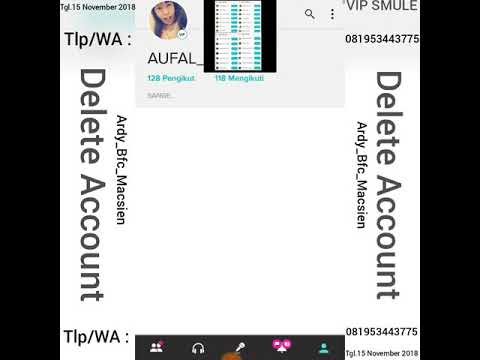 Account delete form smule How to